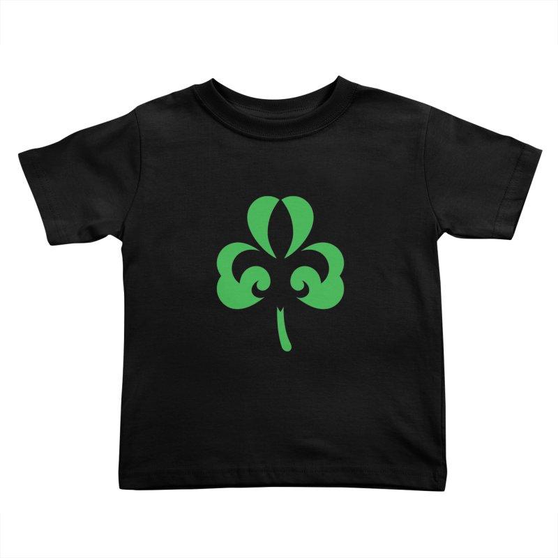 Shamrock De Lis - Green Kids Toddler T-Shirt by Fees Tees