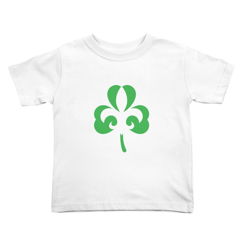 Shamrock De Lis - Green Kids Toddler T-Shirt by Fees Tees
