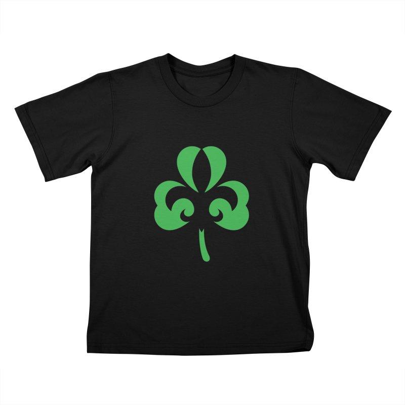Shamrock De Lis - Green Kids T-Shirt by Fees Tees