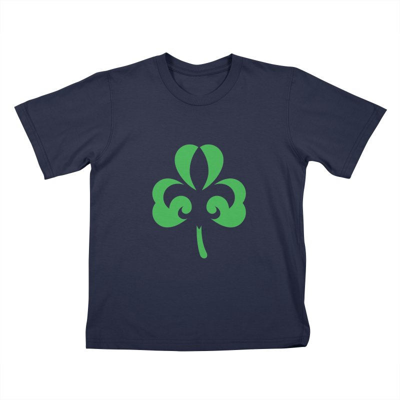 Shamrock De Lis - Green Kids T-Shirt by Fees Tees