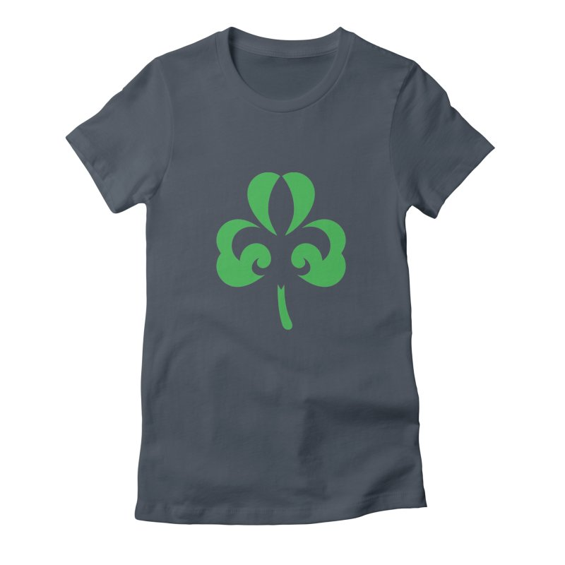 Shamrock De Lis - Green Women's Fitted T-Shirt by Fees Tees
