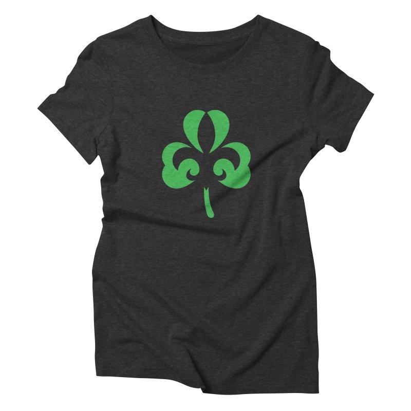 Shamrock De Lis - Green Women's Triblend T-Shirt by Fees Tees