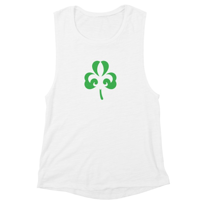 Shamrock De Lis - Green Women's Muscle Tank by Fees Tees