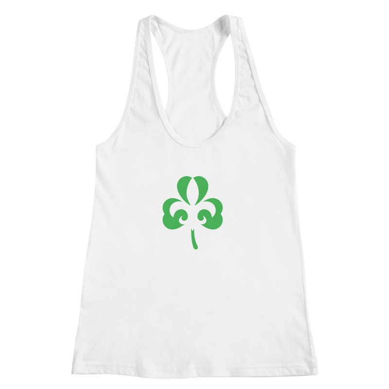 Shamrock De Lis - Green Women's Racerback Tank by Fees Tees