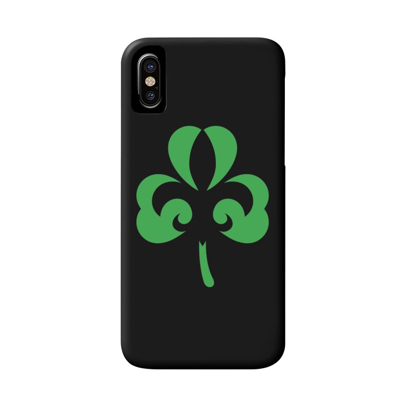 Shamrock De Lis - Green Accessories Phone Case by Fees Tees