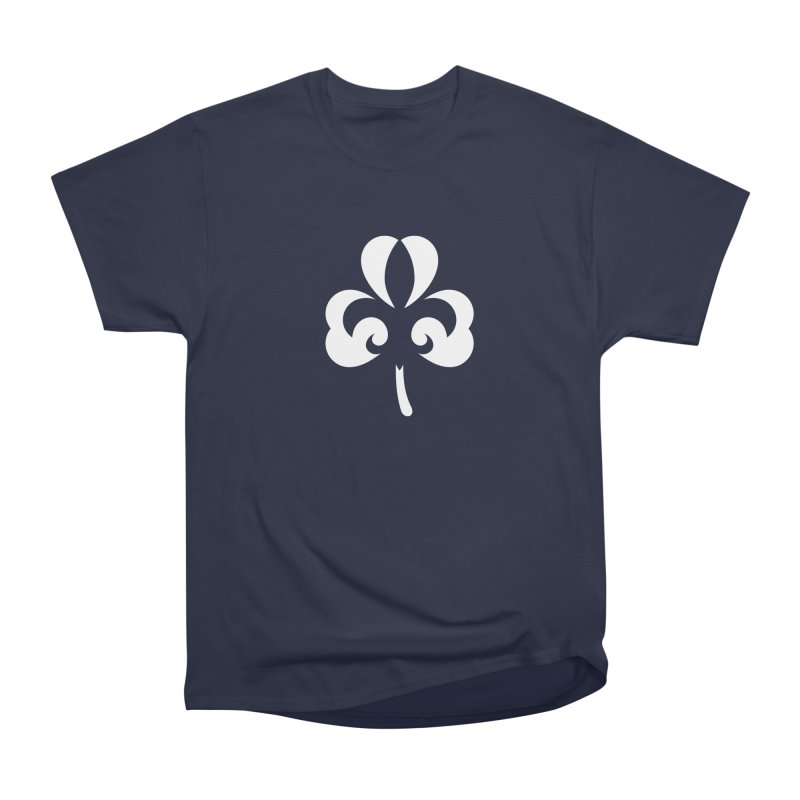 Shamrock De Lis - White Women's Heavyweight Unisex T-Shirt by Fees Tees