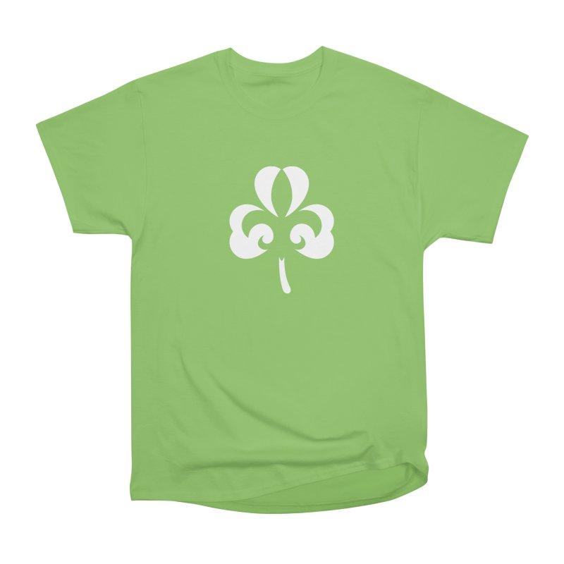 Shamrock De Lis - White Men's Heavyweight T-Shirt by Fees Tees