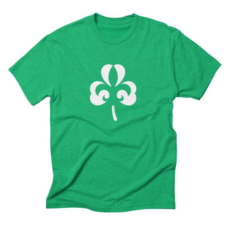 Shamrock De Lis - White Men's Triblend T-Shirt by Fees Tees