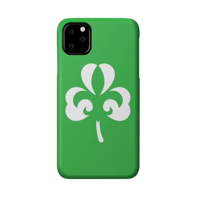 Shamrock De Lis - White Accessories Phone Case by Fees Tees