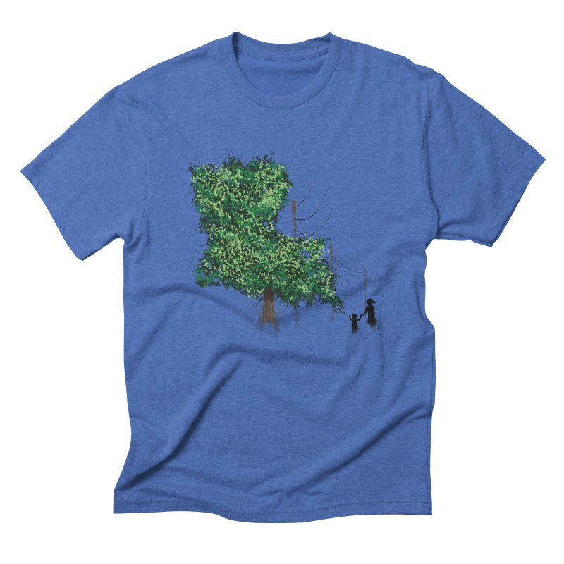 LA Tree Shirt Men's Triblend T-Shirt by Fees Tees