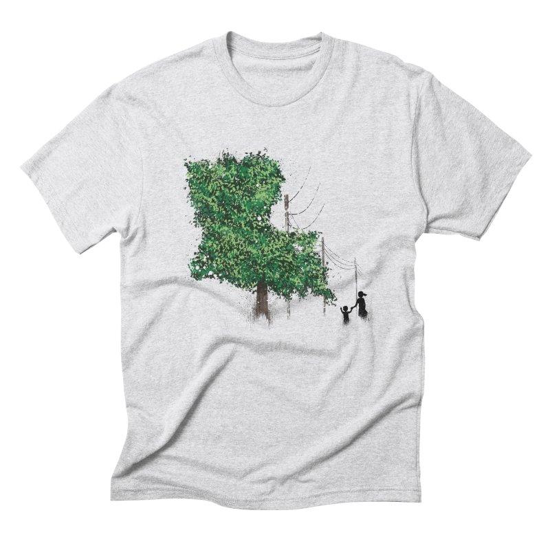 LA Tree Shirt Men's Triblend T-Shirt by Fees Tees
