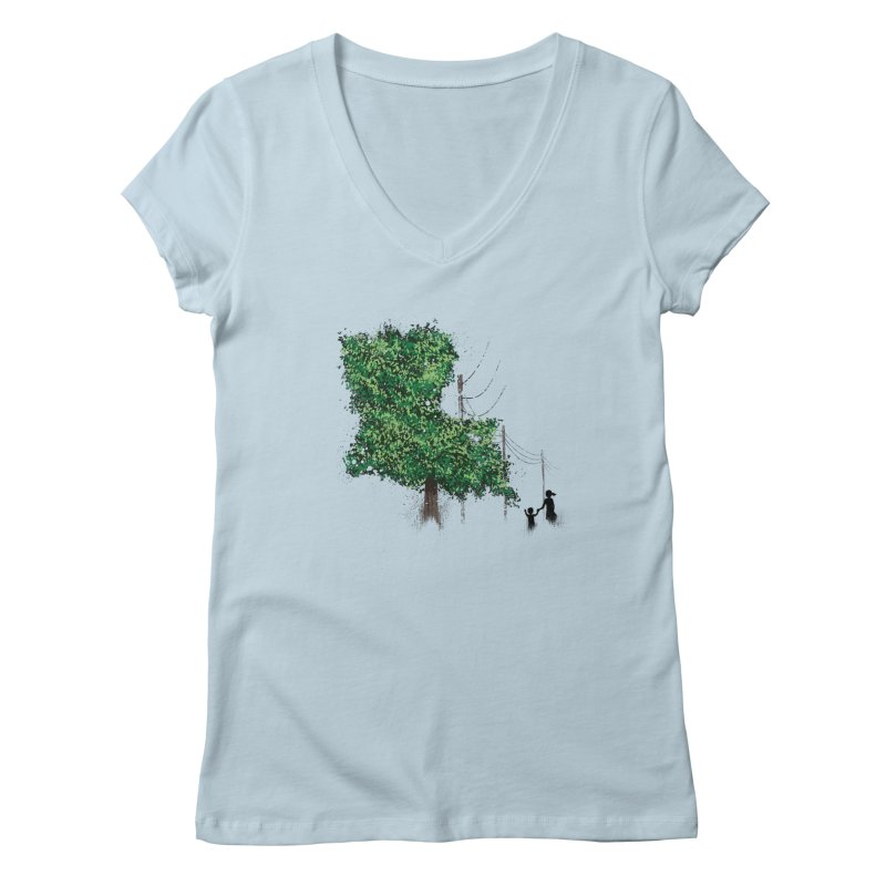 LA Tree Shirt Women's Regular V-Neck by Fees Tees