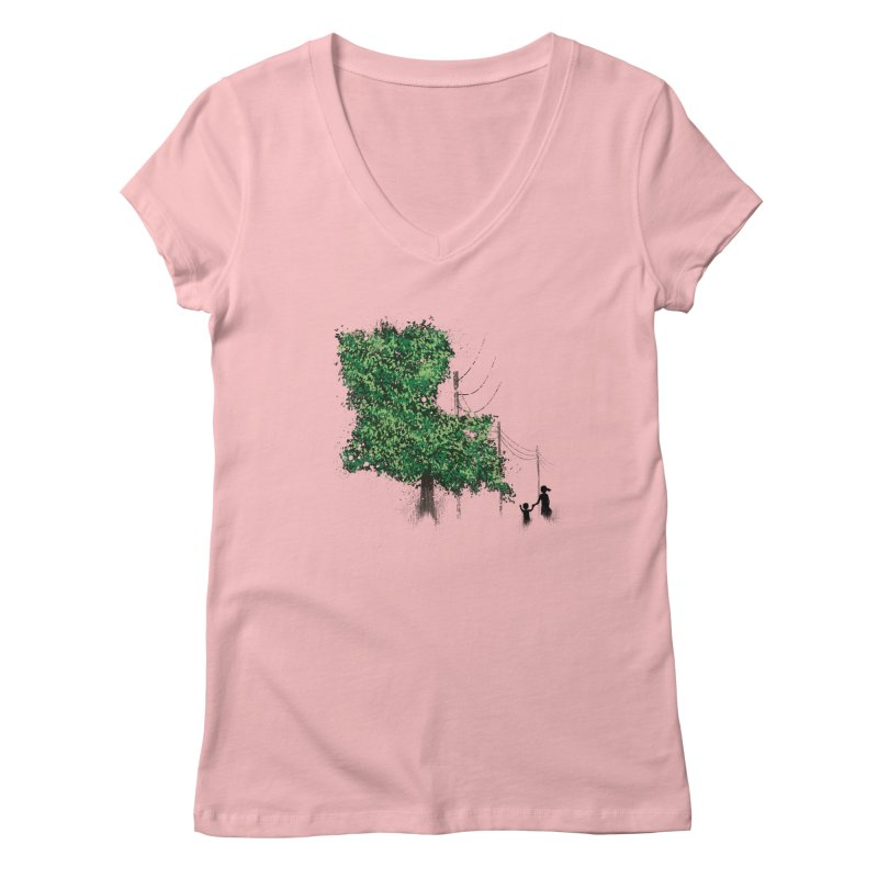 LA Tree Shirt Women's Regular V-Neck by Fees Tees
