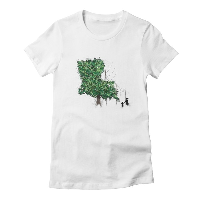 LA Tree Shirt Women's Fitted T-Shirt by Fees Tees