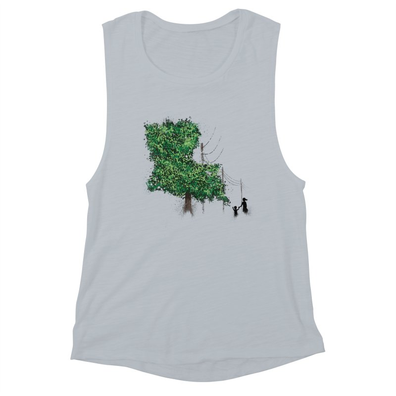 LA Tree Shirt Women's Muscle Tank by Fees Tees