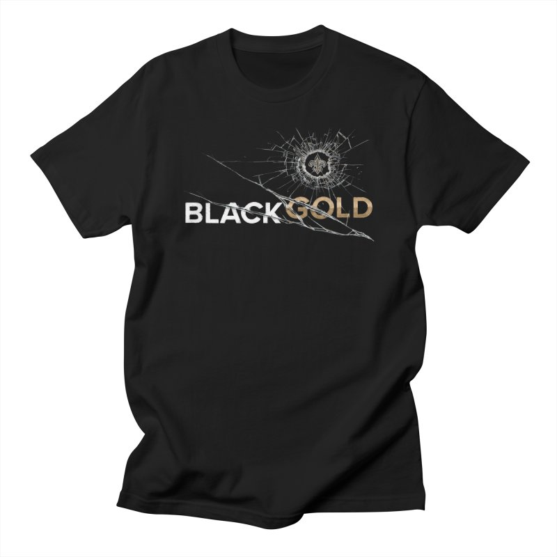 Black Gold in Men's Regular T-Shirt Black by Fees Tees