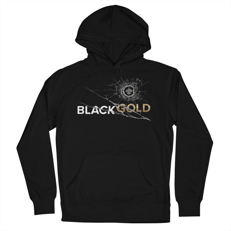 Black Gold Men's French Terry Pullover Hoody by Fees Tees