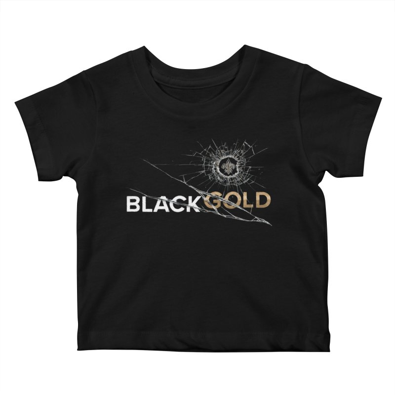 Black Gold Kids Baby T-Shirt by Fees Tees