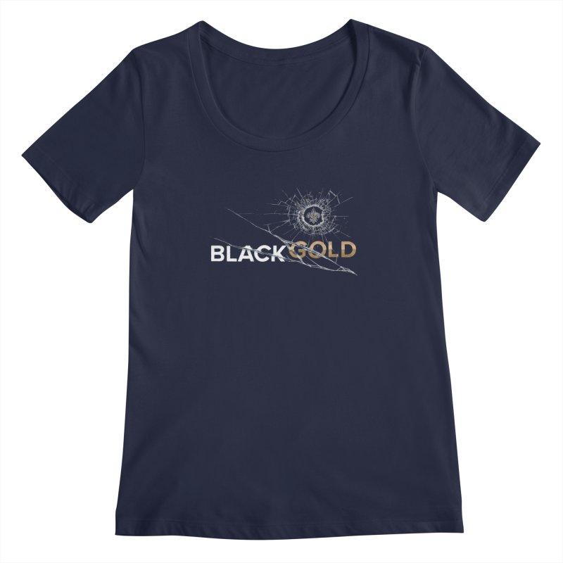 Black Gold Women's Regular Scoop Neck by Fees Tees