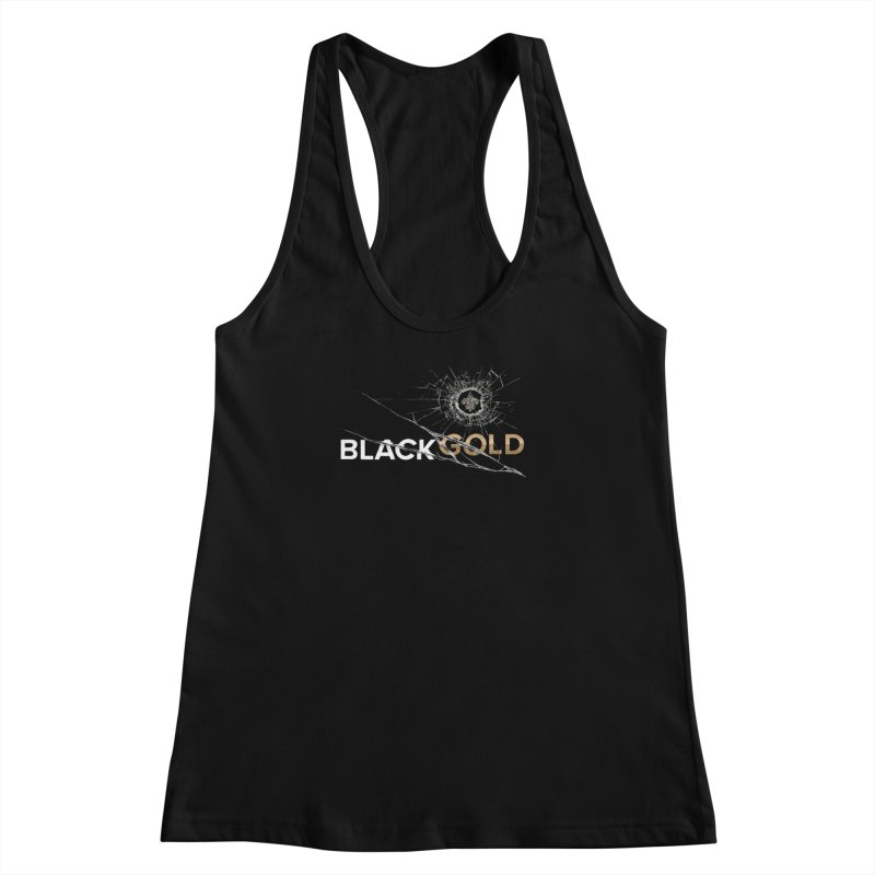 Black Gold Women's Racerback Tank by Fees Tees