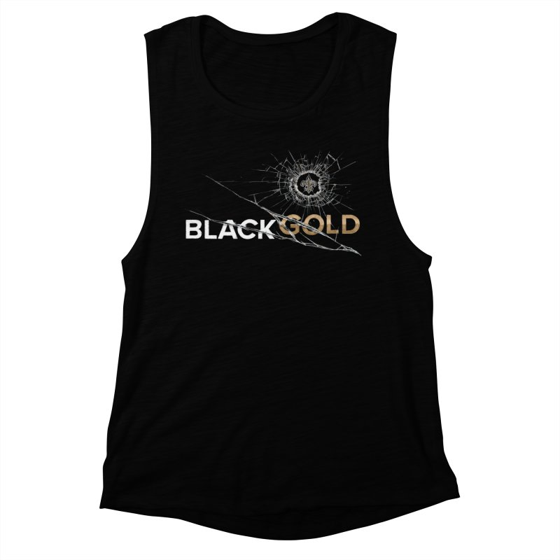 Black Gold Women's Muscle Tank by Fees Tees