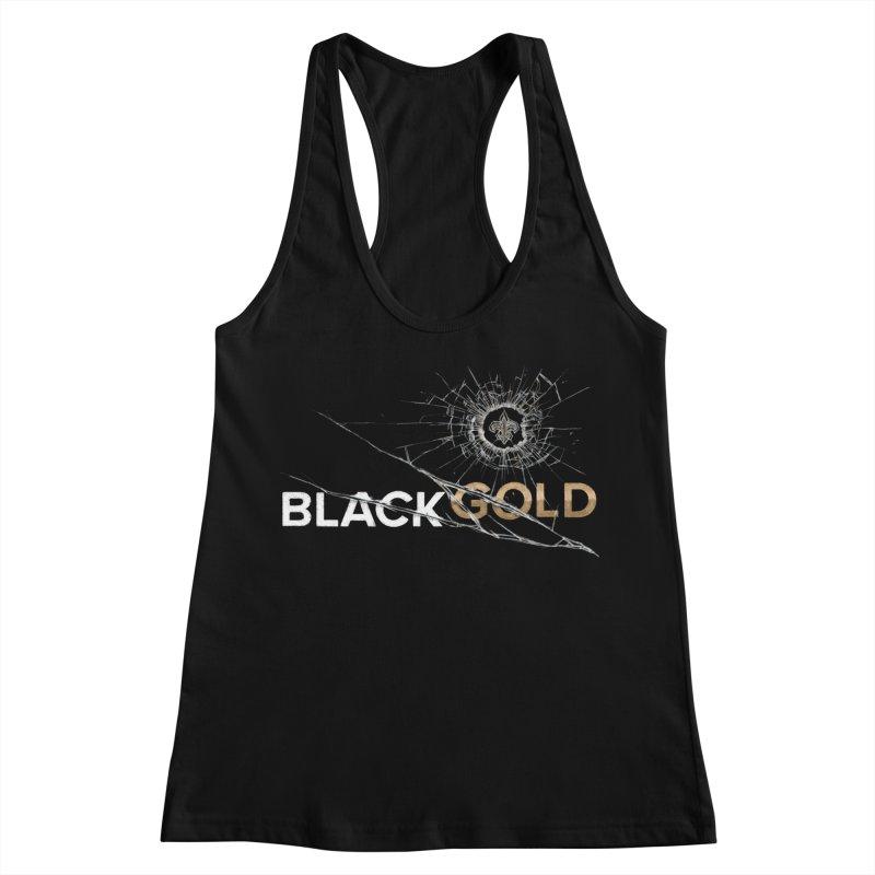 Black Gold Women's Racerback Tank by Fees Tees