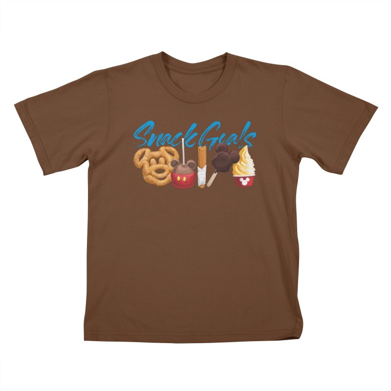 Snack Goals Kids T-Shirt by Fees Tees