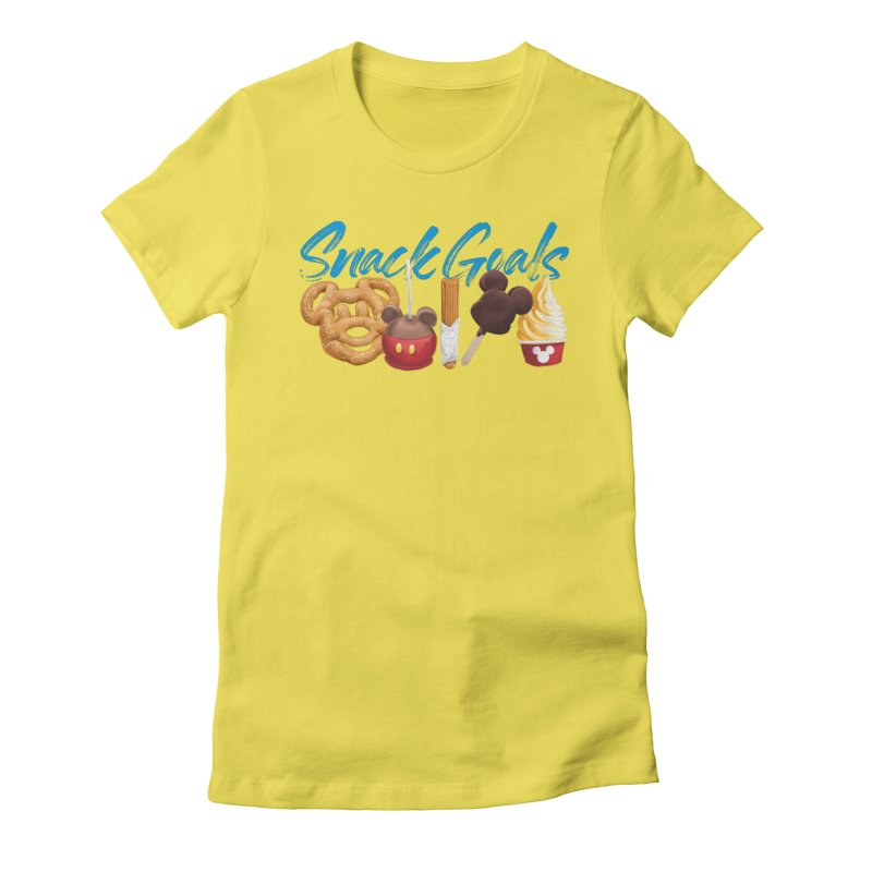 Snack Goals Women's Fitted T-Shirt by Fees Tees
