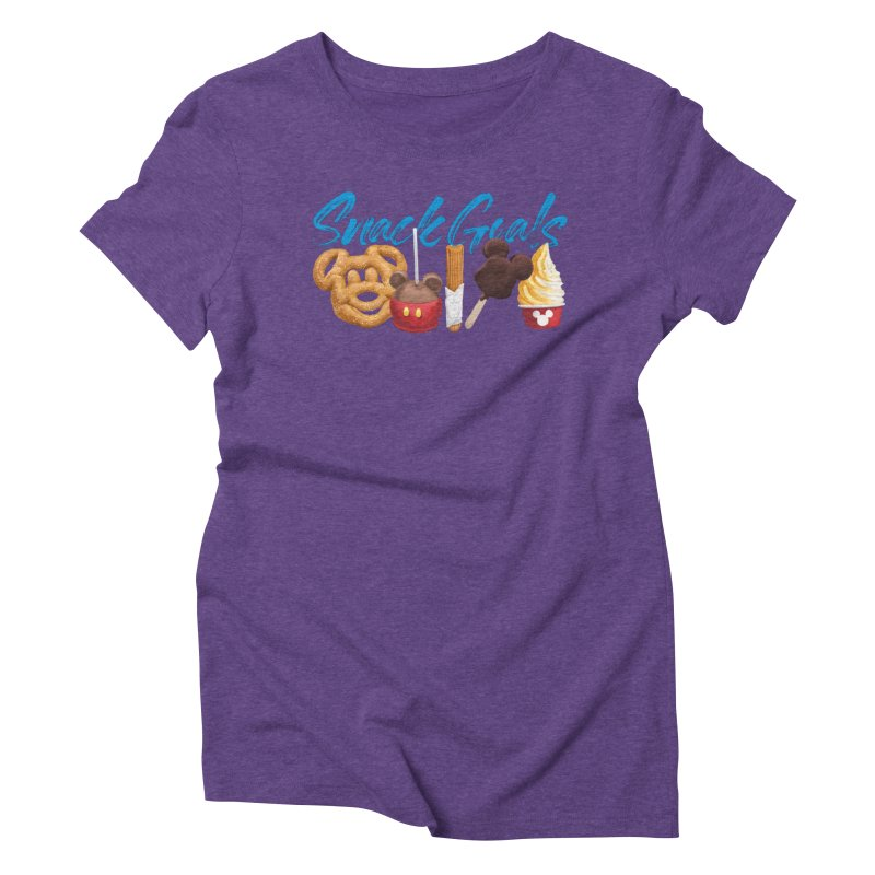 Snack Goals Women's Triblend T-Shirt by Fees Tees