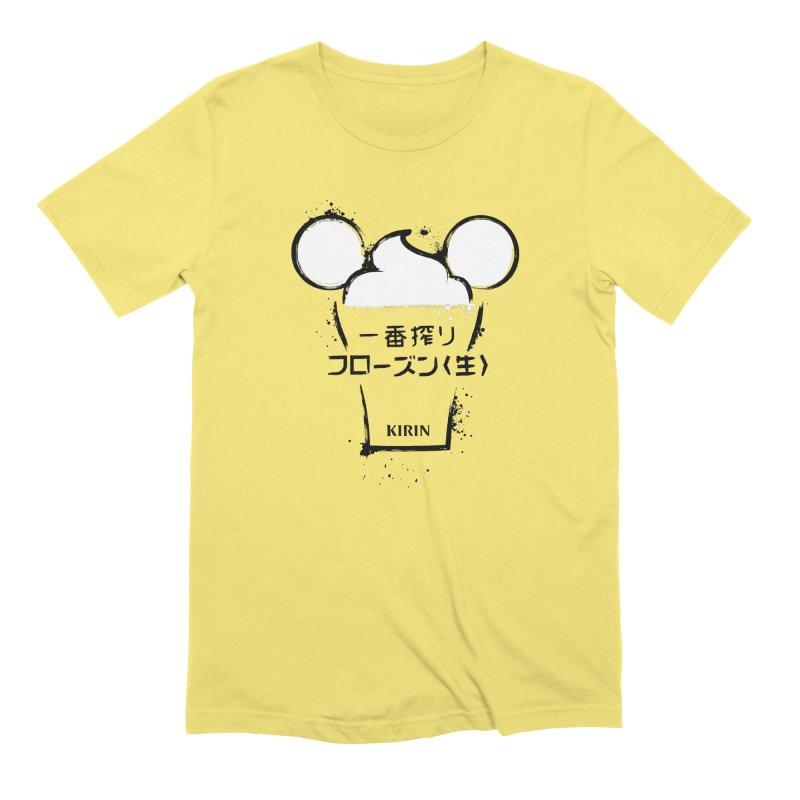 Frozen Kirin in Men's Extra Soft T-Shirt Light Yellow by Fees Tees