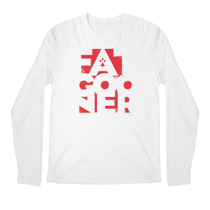 Fat Gooner (Gooner Gras) Men's Regular Longsleeve T-Shirt by Fees Tees