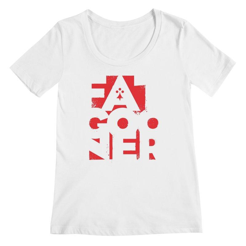 Fat Gooner (Gooner Gras) Women's Regular Scoop Neck by Fees Tees