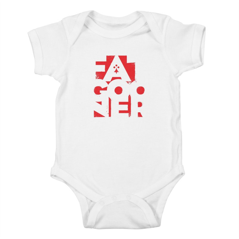 Fat Gooner (Gooner Gras) Kids Baby Bodysuit by Fees Tees
