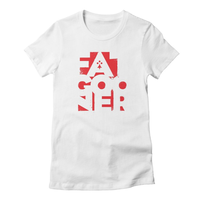 Fat Gooner (Gooner Gras) in Women's Fitted T-Shirt White by Fees Tees