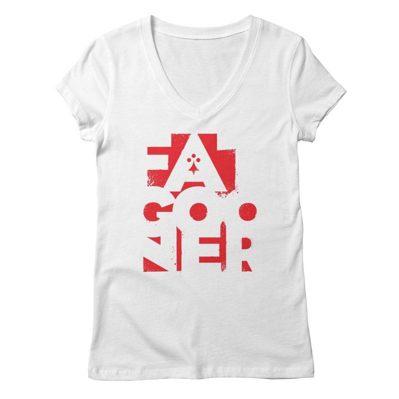 Fat Gooner (Gooner Gras) Women's Regular V-Neck by Fees Tees