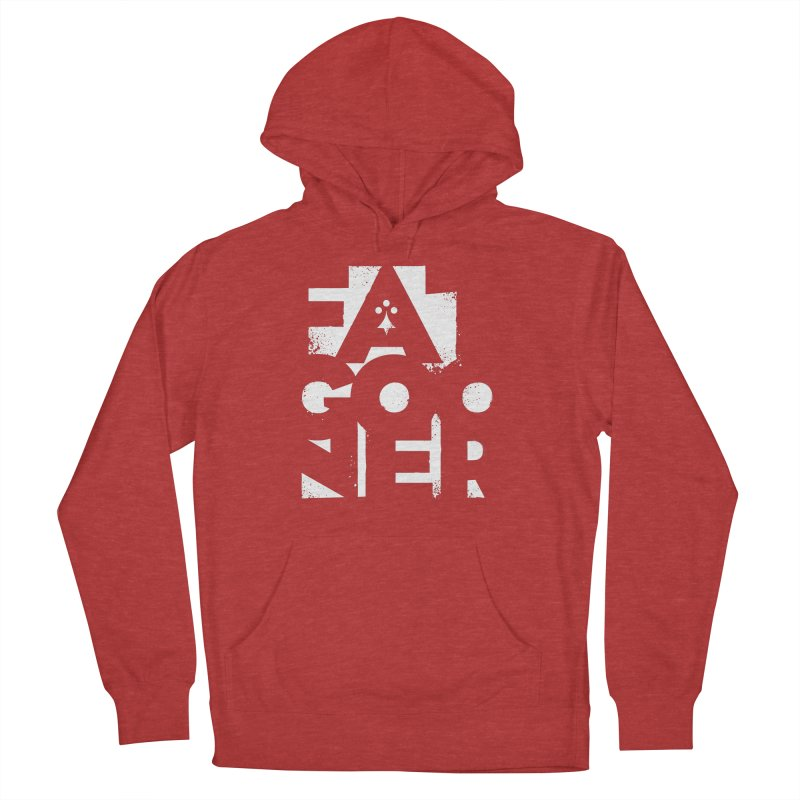 Fat Gooner (Gooner Gras) - The RED One Men's French Terry Pullover Hoody by Fees Tees