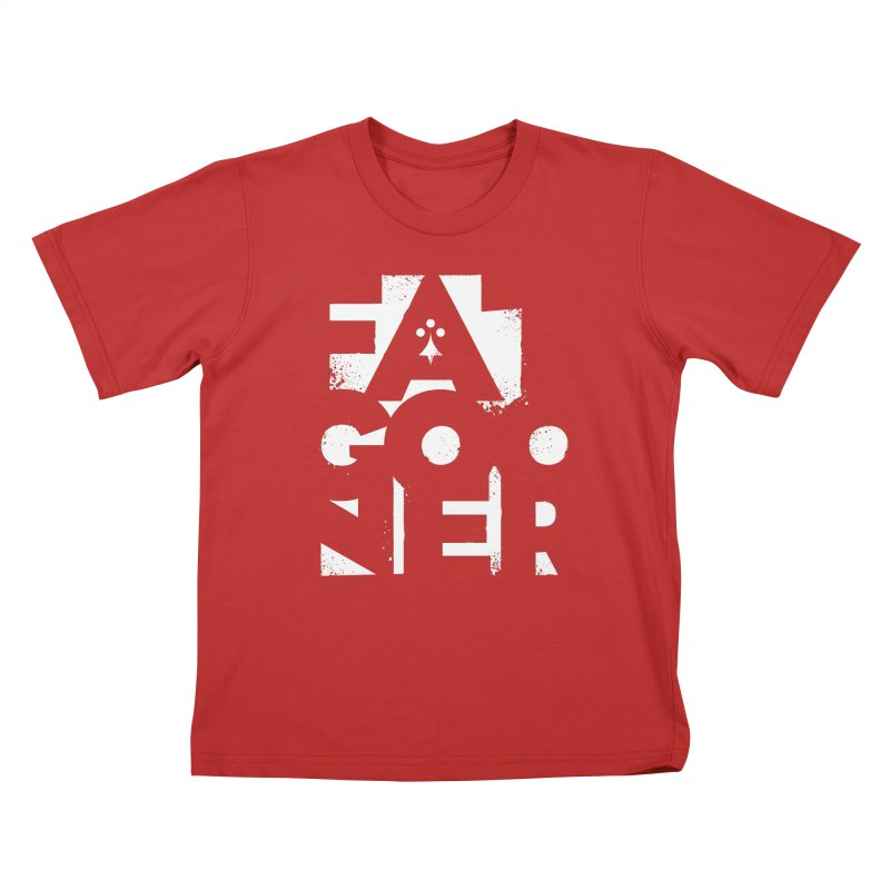 Fat Gooner (Gooner Gras) - The RED One Kids T-Shirt by Fees Tees
