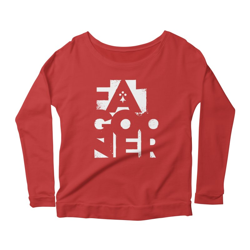 Fat Gooner (Gooner Gras) - The RED One Women's Scoop Neck Longsleeve T-Shirt by Fees Tees