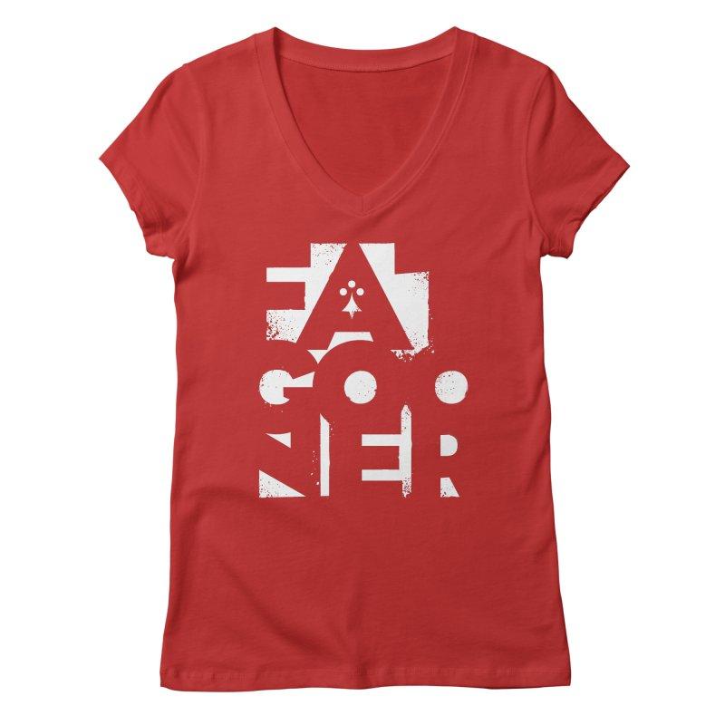 Fat Gooner (Gooner Gras) - The RED One Women's Regular V-Neck by Fees Tees