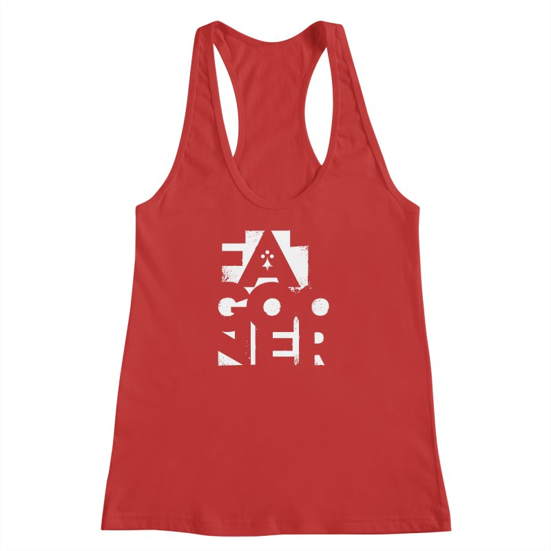 Fat Gooner (Gooner Gras) - The RED One Women's Racerback Tank by Fees Tees