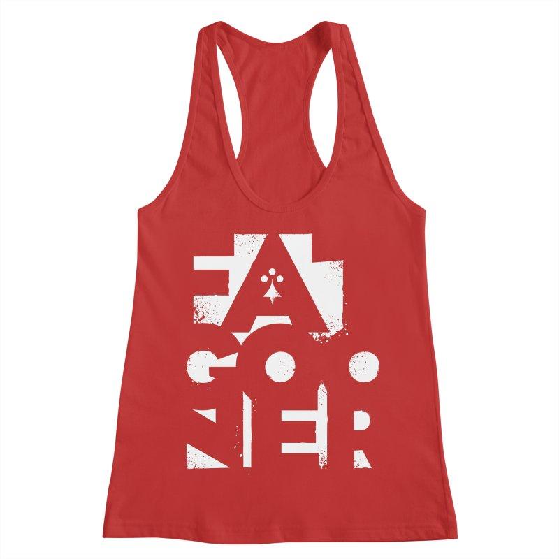 Fat Gooner (Gooner Gras) - The RED One Women's Racerback Tank by Fees Tees