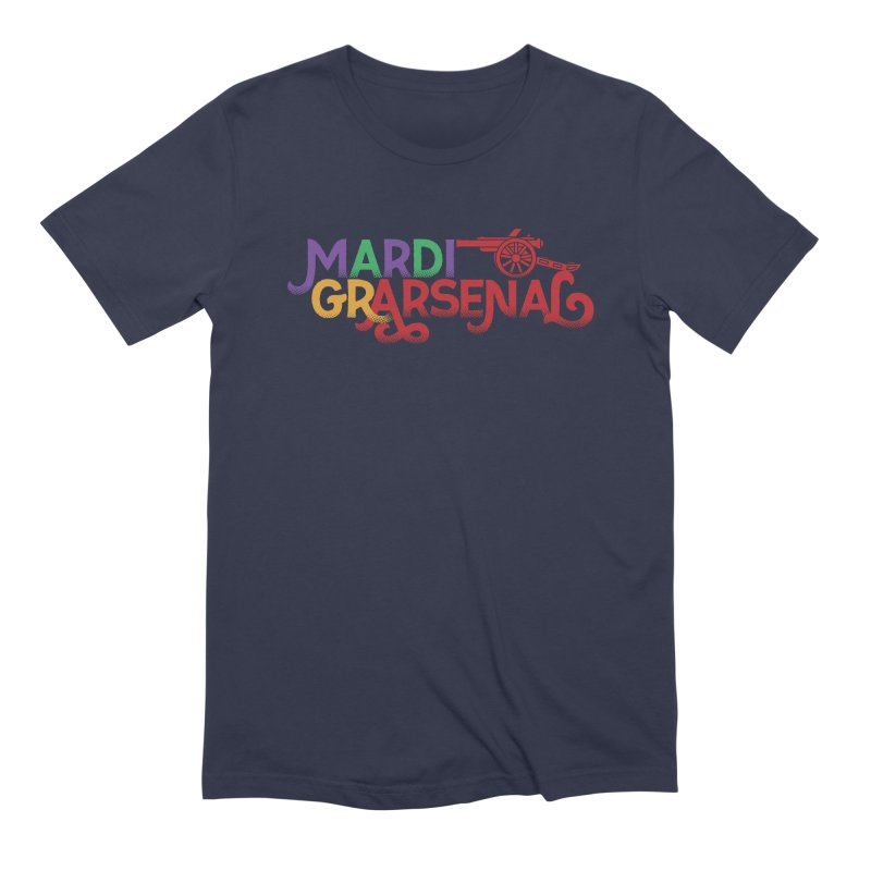 Mardi Gr-Arsenal Men's Extra Soft T-Shirt by Fees Tees