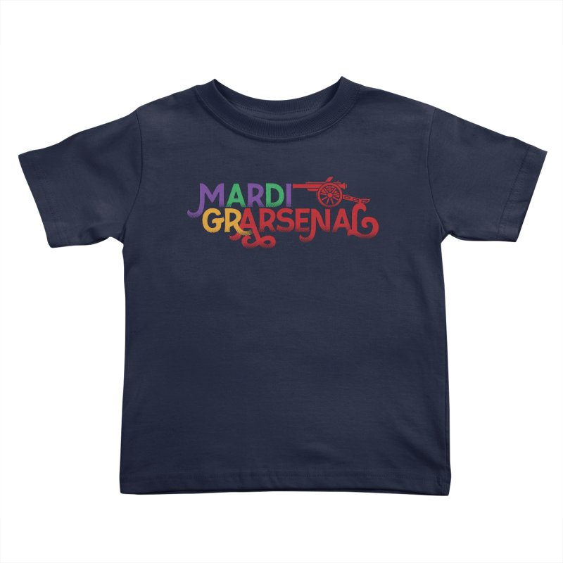 Mardi Gr-Arsenal Kids Toddler T-Shirt by Fees Tees