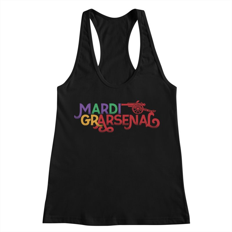 Mardi Gr-Arsenal Women's Racerback Tank by Fees Tees