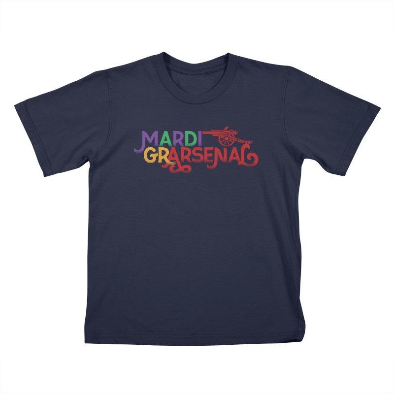 Mardi Gr-Arsenal in Kids T-Shirt Navy by Fees Tees