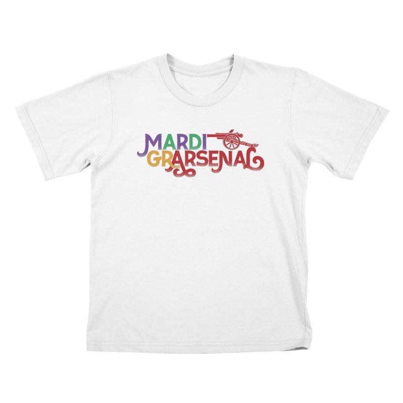 Mardi Gr-Arsenal Kids T-Shirt by Fees Tees