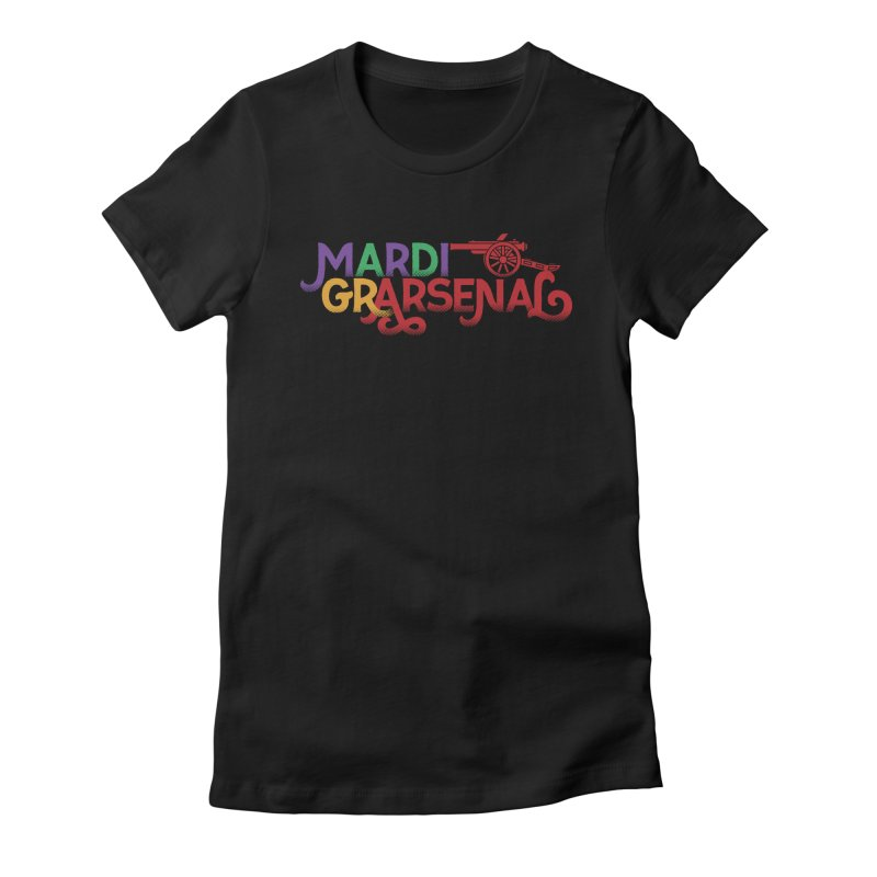 Mardi Gr-Arsenal Women's Fitted T-Shirt by Fees Tees