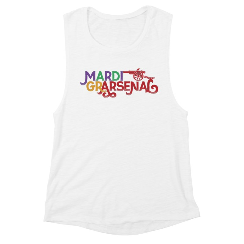 Mardi Gr-Arsenal Women's Muscle Tank by Fees Tees