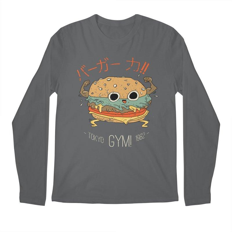 Burger Strength!! Men's Longsleeve T-Shirt by Feldir's Weirdness