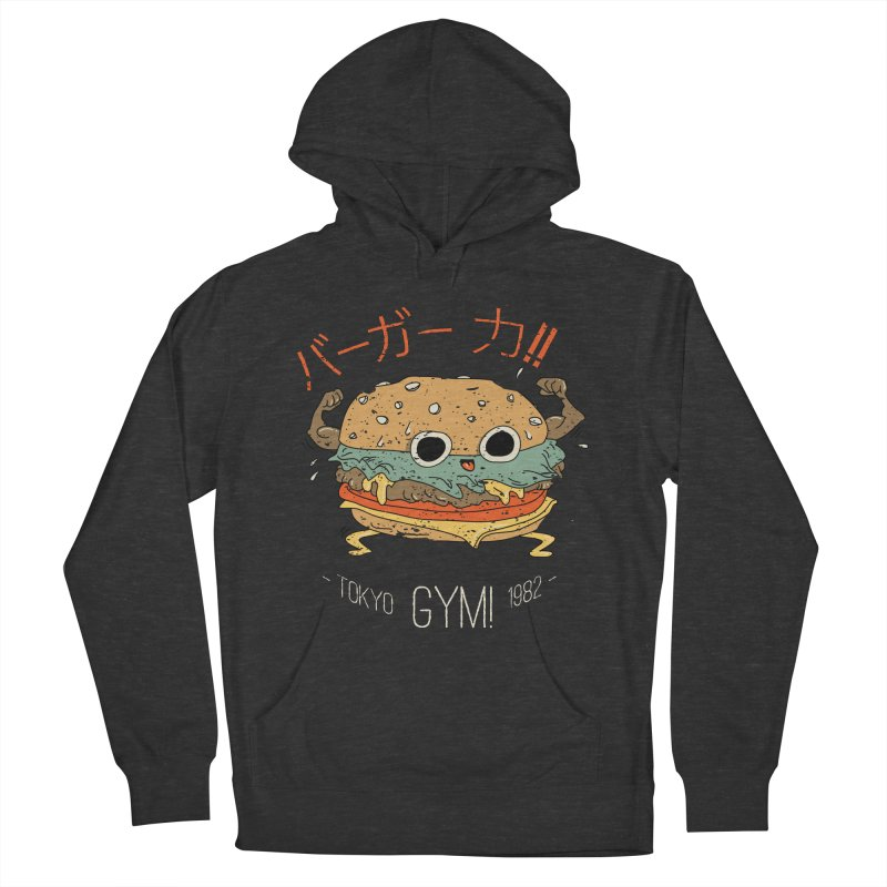 Burger Strength!! Women's French Terry Pullover Hoody by Feldir's Weirdness